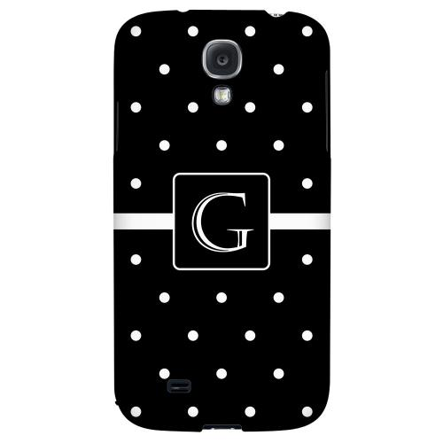 Monogram G on Classic Mini Polka Dots - Geeks Designer Line Monogram Series Hard Back Case for Samsung Galaxy S4