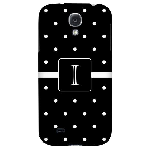 Monogram I on Classic Mini Polka Dots - Geeks Designer Line Monogram Series Hard Back Case for Samsung Galaxy S4