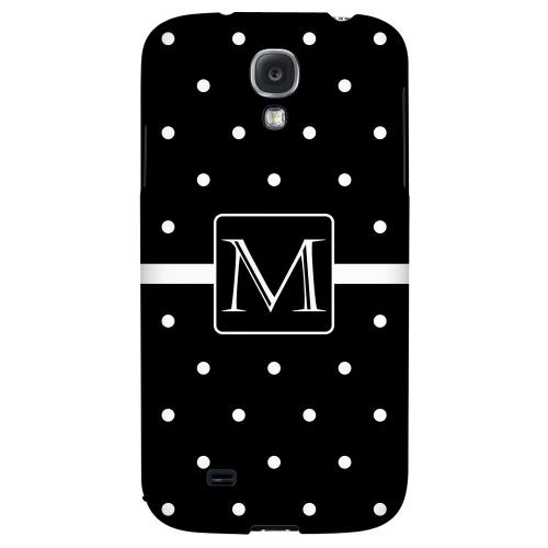 Monogram M on Classic Mini Polka Dots - Geeks Designer Line Monogram Series Hard Back Case for Samsung Galaxy S4