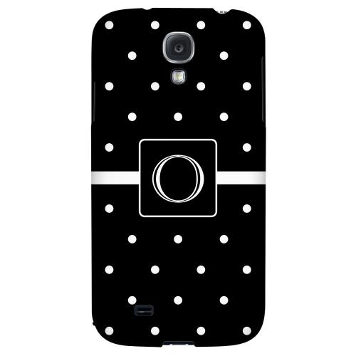 Monogram O on Classic Mini Polka Dots - Geeks Designer Line Monogram Series Hard Back Case for Samsung Galaxy S4