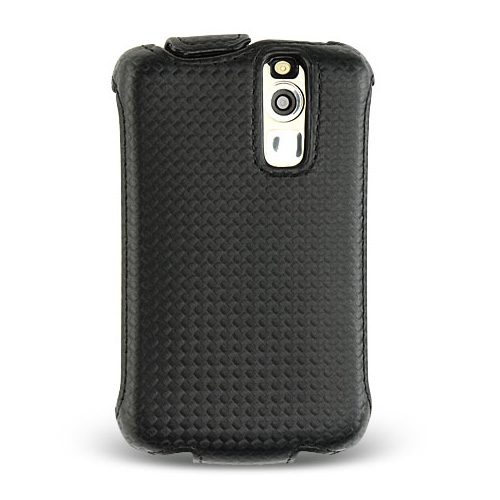 Blackberry Curve 8330, 8320, 8310, 8300 Fabric Material Cross Stitch Hard Case w/ Front Cover - Black Carbon