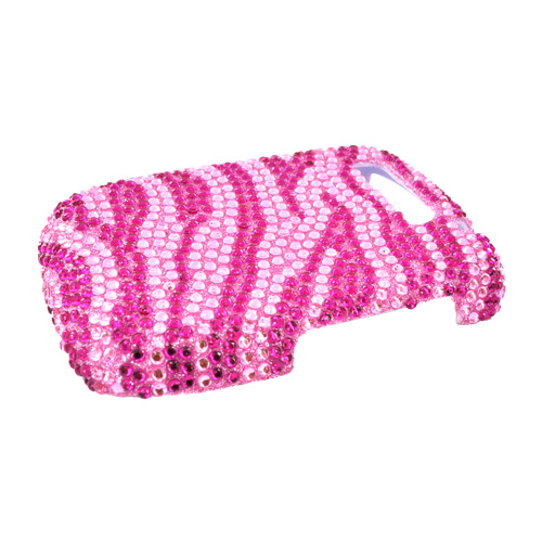 PCD Cricket TXTM8 Bling Hard Case - Baby Pink/Hot Pink Zebra