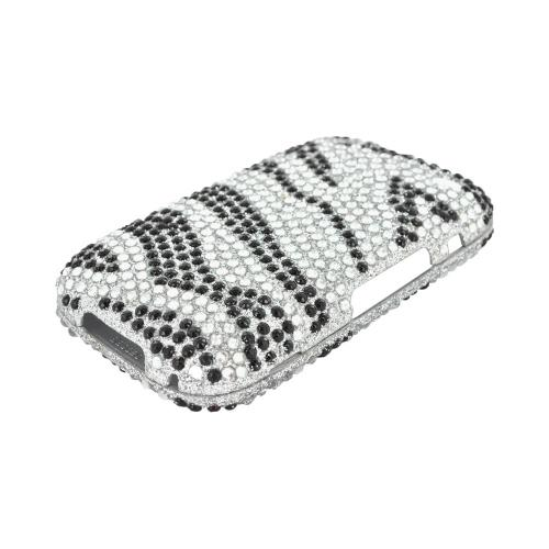 BlackBerry Curve 9310/9320 Bling Hard Case - Black/ Silver Zebra