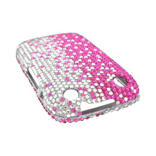 BlackBerry Curve 9310/9320 Bling Hard Case - Hot Pink/ Silver Gems