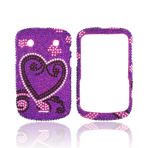 Blackberry Bold 9900, 9930 Bling Hard Case - Silver/ Blac...