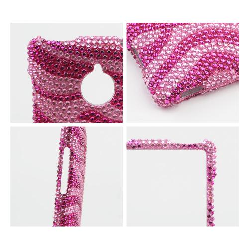 Hot Pink/ Baby Pink Zebra Bling Hard Case for HTC 8XT