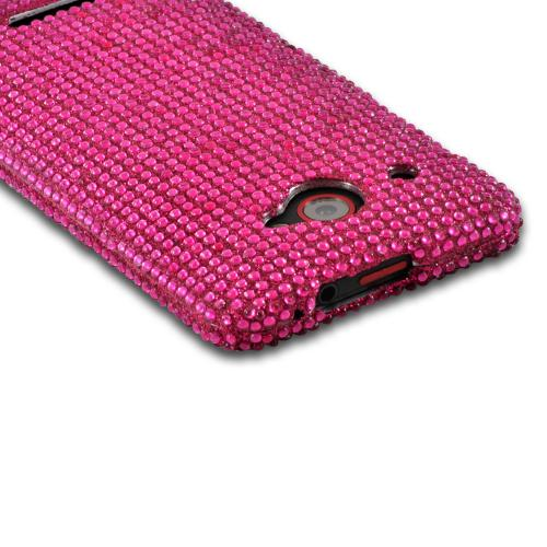 Hot Pink Gems Bling Hard Case for HTC Droid DNA