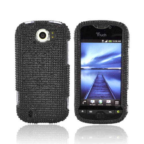 HTC Mytouch 4G Slide Bling Hard Case - Black Gems