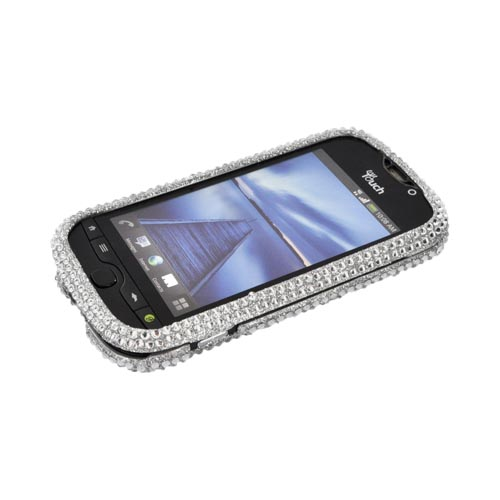 HTC Mytouch 4G Slide Bling Hard Case - Silver Gems