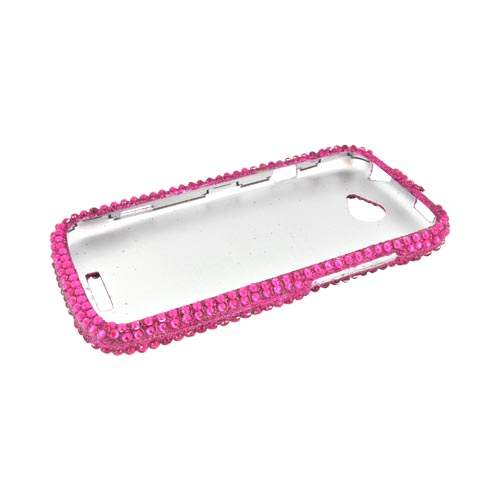 HTC One S Bling Hard Case - Hot Pink