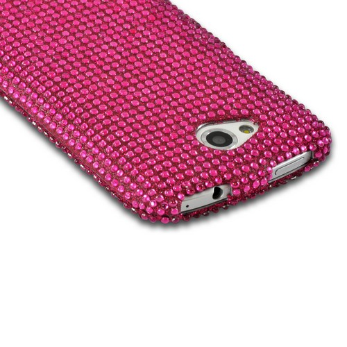 Hot Pink Gems Bling Hard Case for HTC One VX