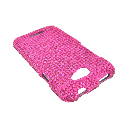 HTC One X Bling Hard Case - Hot Pink
