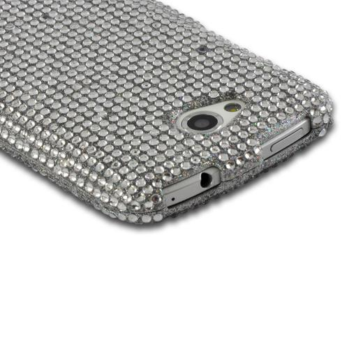Silver Gems Bling Hard Case for HTC One VX