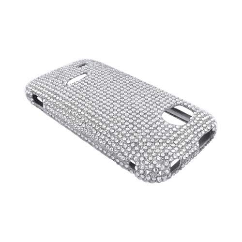 HTC Rezound Bling Hard Case - Silver Gems