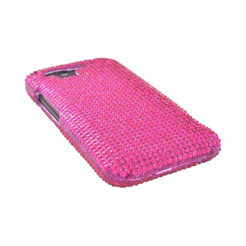 HTC Rhyme Bling Hard Case w/ Crowbar - Magenta Gems