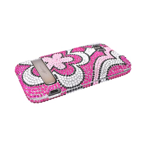 HTC Thunderbolt Bling Hard Case - Pink Flowers