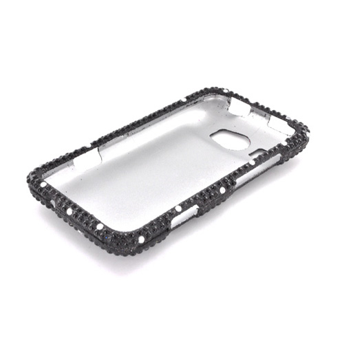 HTC Titan 2 Bling Hard Case - White Gems on Black Gems