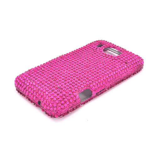 HTC Titan 2 Bling Hard Case - Hot Pink Gems