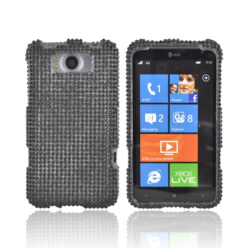 HTC Titan Bling Hard Case - Black Gems