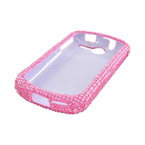 AT&T Impulse 4G Bling Hard Case w/ Crowbar - Baby Pink Gems