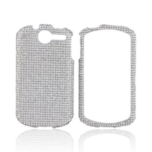 AT&T Impulse 4G Bling Hard Case w/ Crowbar - Silver Gems
