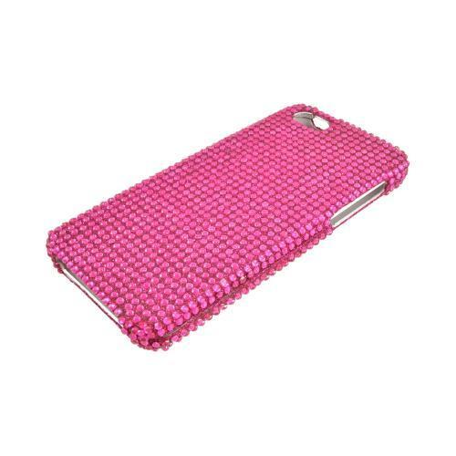 Apple iPhone 5/5S Bling Hard Case - Hot Pink Gems