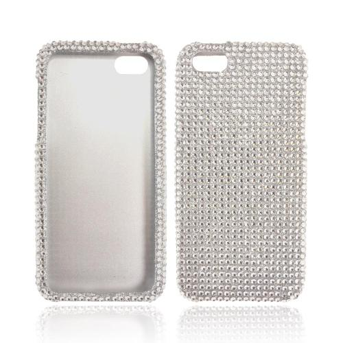 Apple iPhone 5/5S Bling Hard Case - Silver Gems