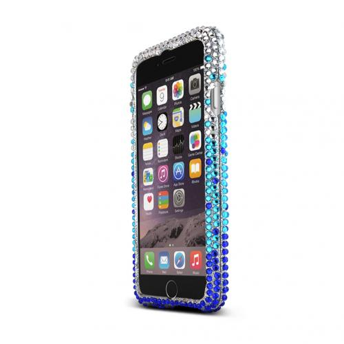 Apple iPhone 6/ 6S Case,  [Turquoise/ Blue Waterfall] Jeweled Fashion Slim & Protective Crystal Glossy Snap-on Hard Polycarbonate Plastic Case Cover