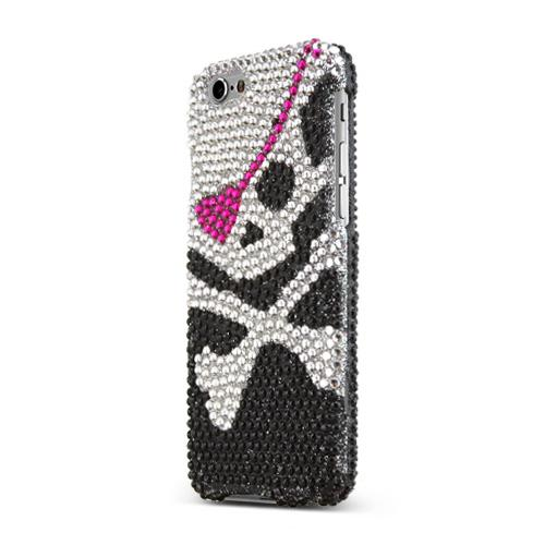 Apple iPhone 6/ 6S Case,  [Pirate On Black] Jeweled Fashion Slim & Protective Crystal Glossy Snap-on Hard Polycarbonate Plastic Case Cover