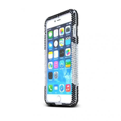 Apple iPhone 6 PLUS/6S PLUS (5.5 inch) Bling Case,  [Black Panda Bear]  Jeweled Fashion Shiny Sparkling Gems Hard Case Cover