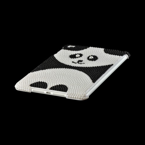 Black/ White Pearl Panda Bling Hard Case for Apple iPad Mini
