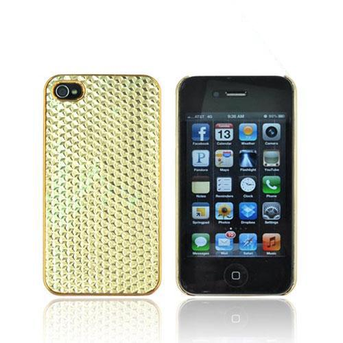 AT&T/ Verizon Apple iPhone 4, iPhone 4S Hard Case - Gold Hexagon