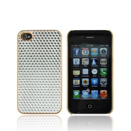 AT&T/ Verizon Apple iPhone 4, iPhone 4S Hard Case - Silver Hexagon