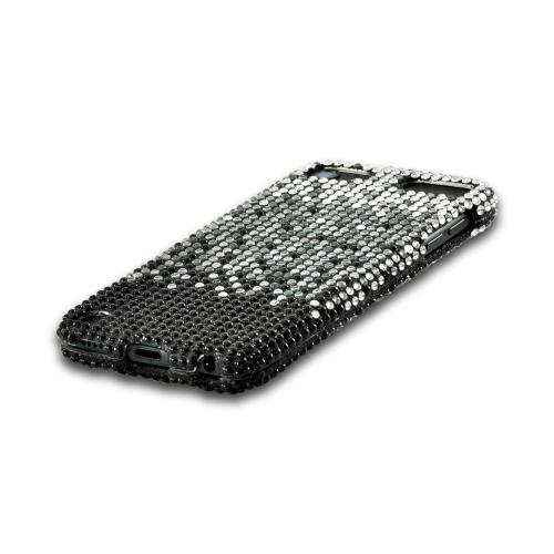 Silver Waterfall on Black Gems Bling Hard Case for Apple iPod Touch 5