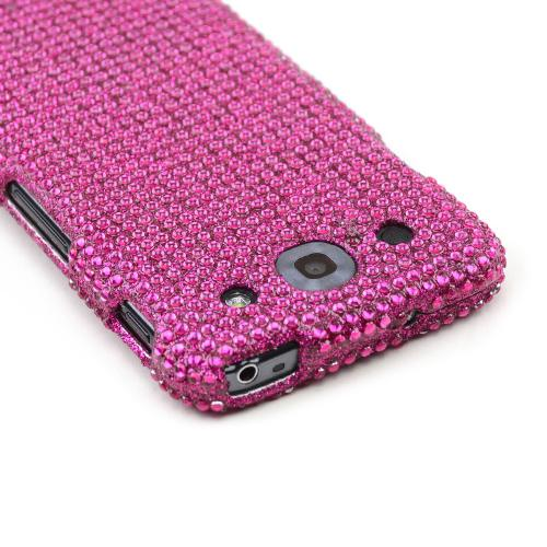 Hot Pink Gems Bling Hard Case for LG Optimus G Pro