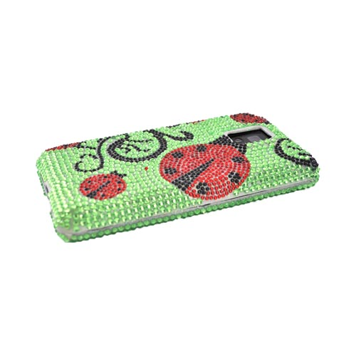 T-Mobile G2X Bling Hard Case - Red Lady Bug on Green