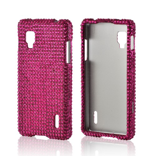 Hot Pink Gems Bling Hard Case for LG Optimus G (Sprint)