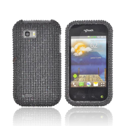 T-Mobile MyTouch Q Bling Hard Case - Black Gems