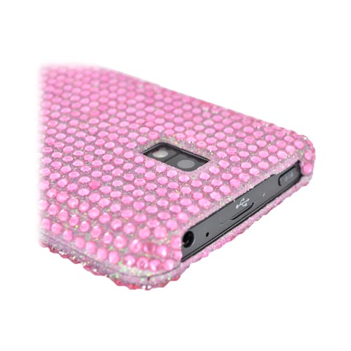 LG Spectrum Bling Hard Case - Baby Pink Gems