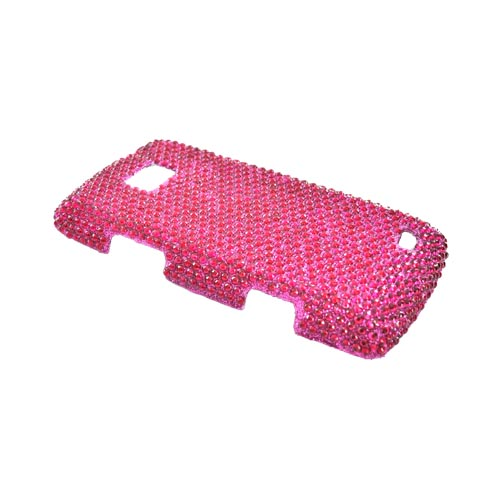 LG Ally VS740 Bling Hard Case - Hot Pink