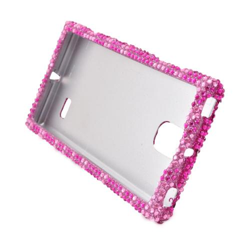 LG Spectrum 2 VS930 Bling Hard Case - Hot Pink/ Baby Pink Zebra