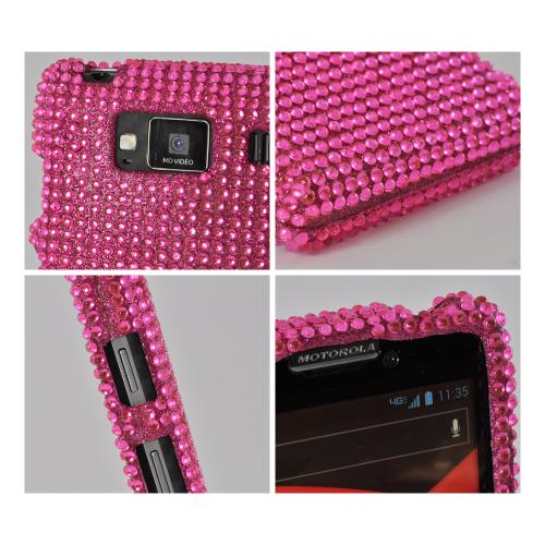 Hot Pink Bling Hard Case for Motorola Droid RAZR MAXX HD
