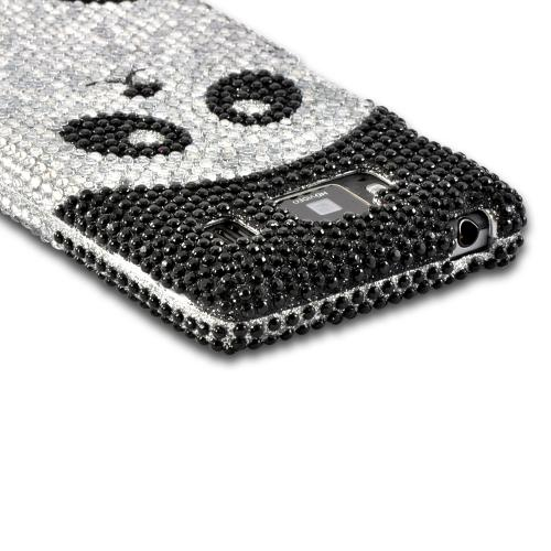 Silver/ Black Panda Bling Hard Case for Motorola Droid RAZR MAXX HD