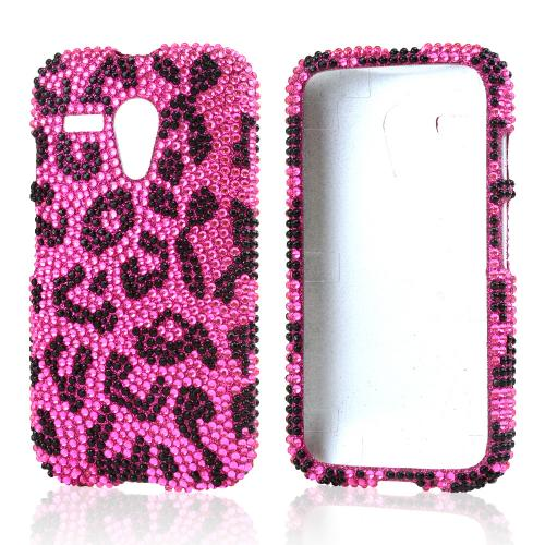 Black Leopard on Pink Bling Hard Case for Motorola Moto G