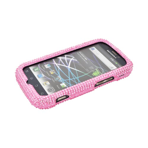 Motorola Photon 4G Bling Hard Case w/ Crowbar - Baby Pink
