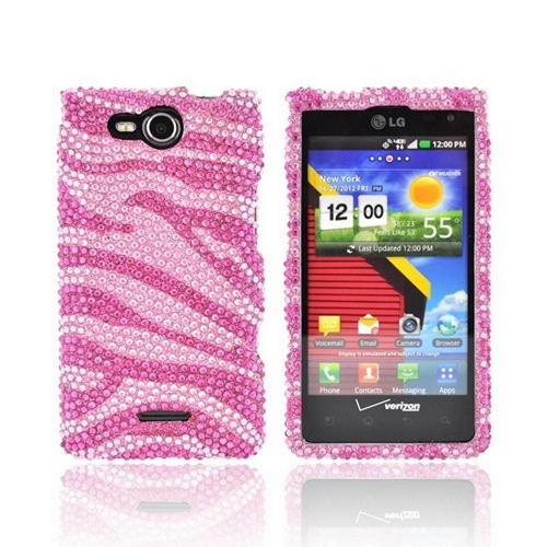 Motorola Droid RAZR HD Bling Hard Case - Hot Pink/ Silver Gems