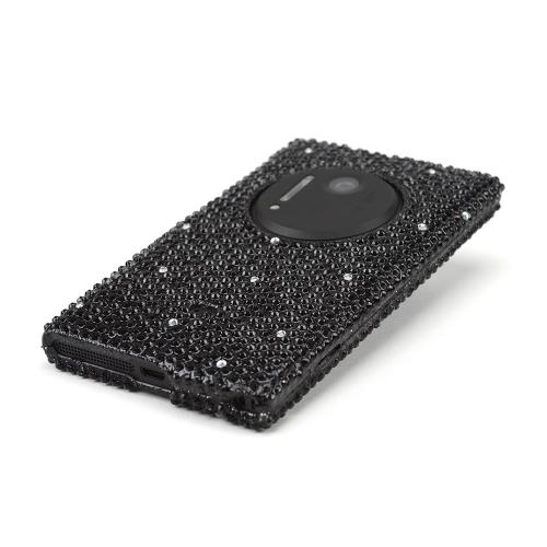 Black w/Silver Gems Bling Hard case for Nokia Lumia 1020