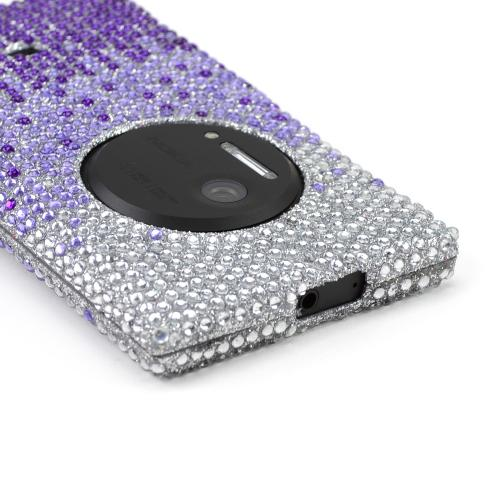 Purple/ Lavender Waterfall on Silver Bling Hard Case for Nokia Lumia 1020