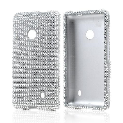 Silver Bling Hard Case for Nokia Lumia 521