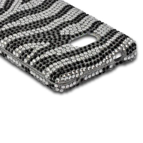 Black/ Silver Zebra Bling Hard Case for Nokia Lumia 810